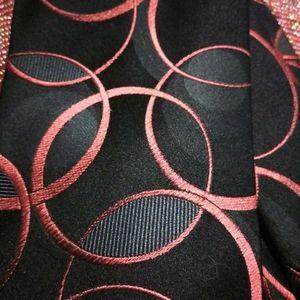 John Ashford silk red and black tie